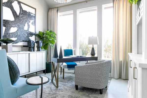 HGTV Smart Home 2019, Home Office, Sherwin-Williams, Repose Gray