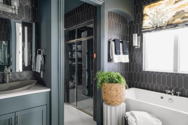 HGTV Smart Home 2019, Master Bathroom, Sherwin-Williams Rock Bottom