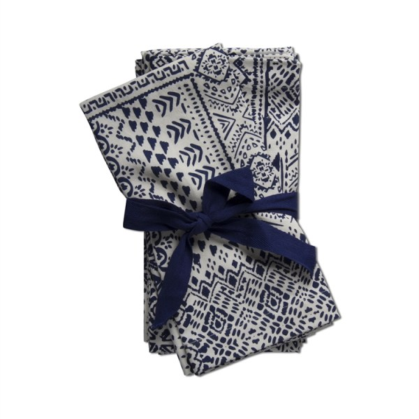 Chatham Block Print Cotton Napkins