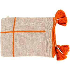 Mysa Cotton Throw, Orange & Camel