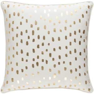 Vinyasa Metallic Movement Pillow, Cream & Gold