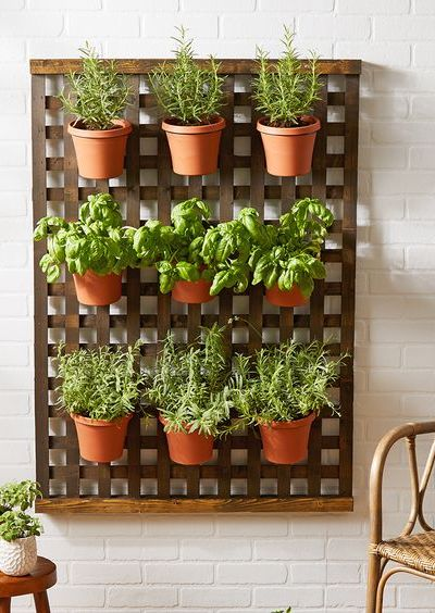 lattice planter, DIY plant hanger