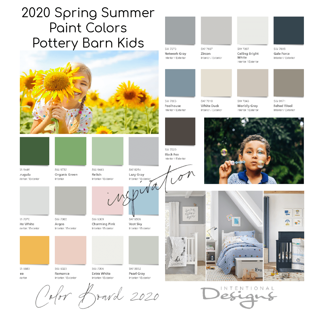 Pottery Barn Kids 2020 Paint Colors Spring Summer Intentionaldesigns Com