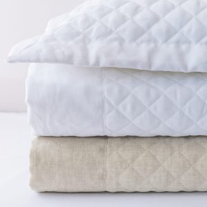 Aiden Coverlet, Aiden Shams, 100% Linen Quilted