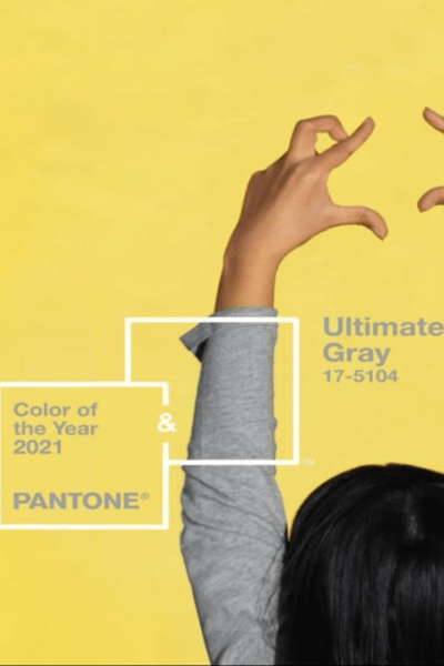 2021 Color of the Year, Pantone Ultimate Gray, Illuminating