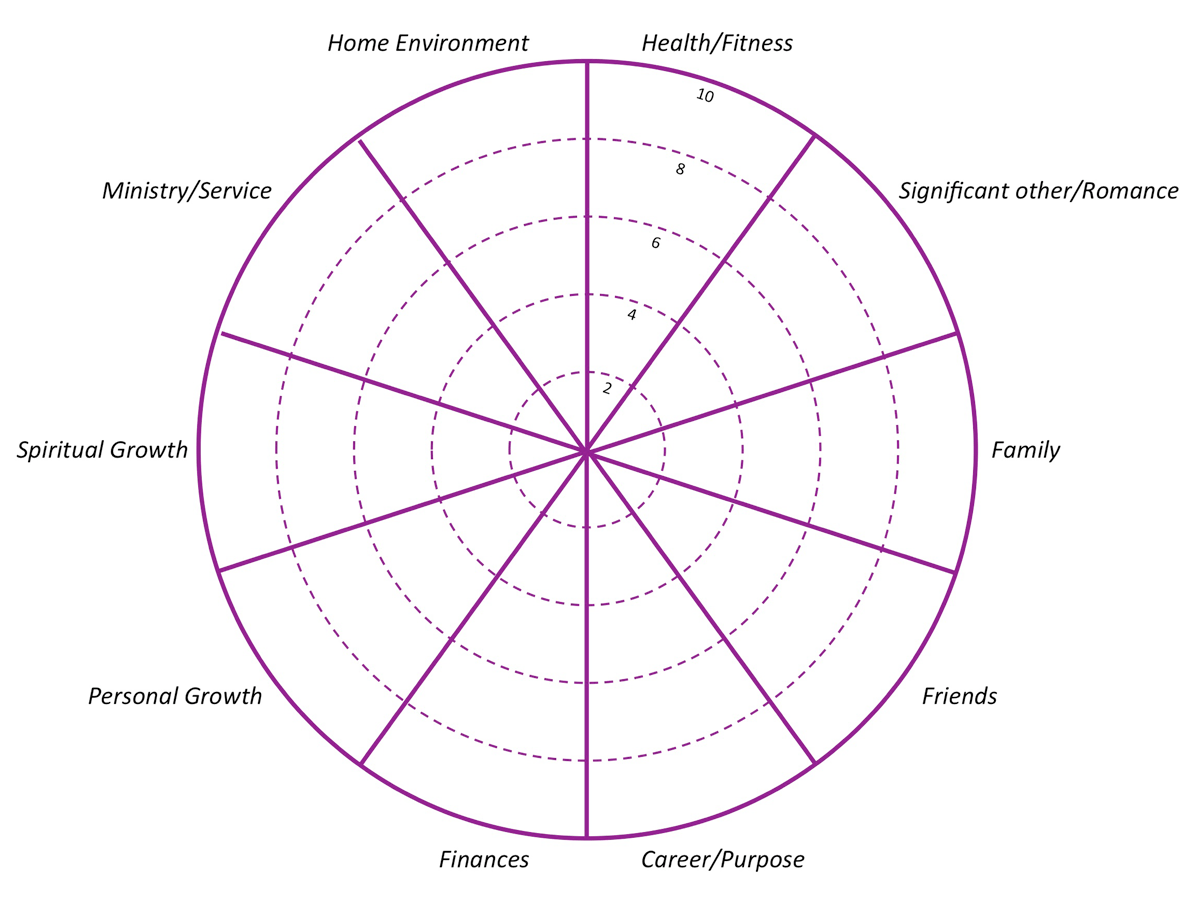 Life Wheel Assessment And Planning Intentionalife Coaching
