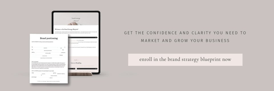 Brand strategy blueprint