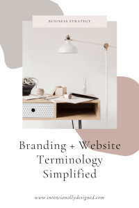 Brand + Website Terminology