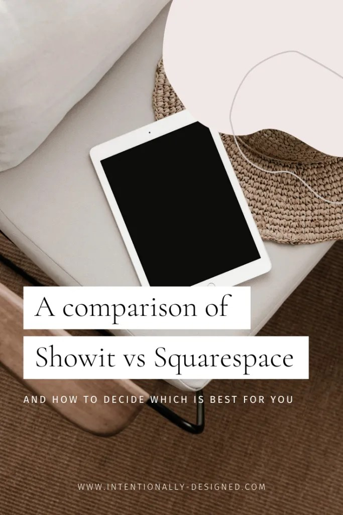 A comparison of Showit vs Squarespace