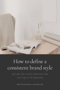 Define consistent brand style