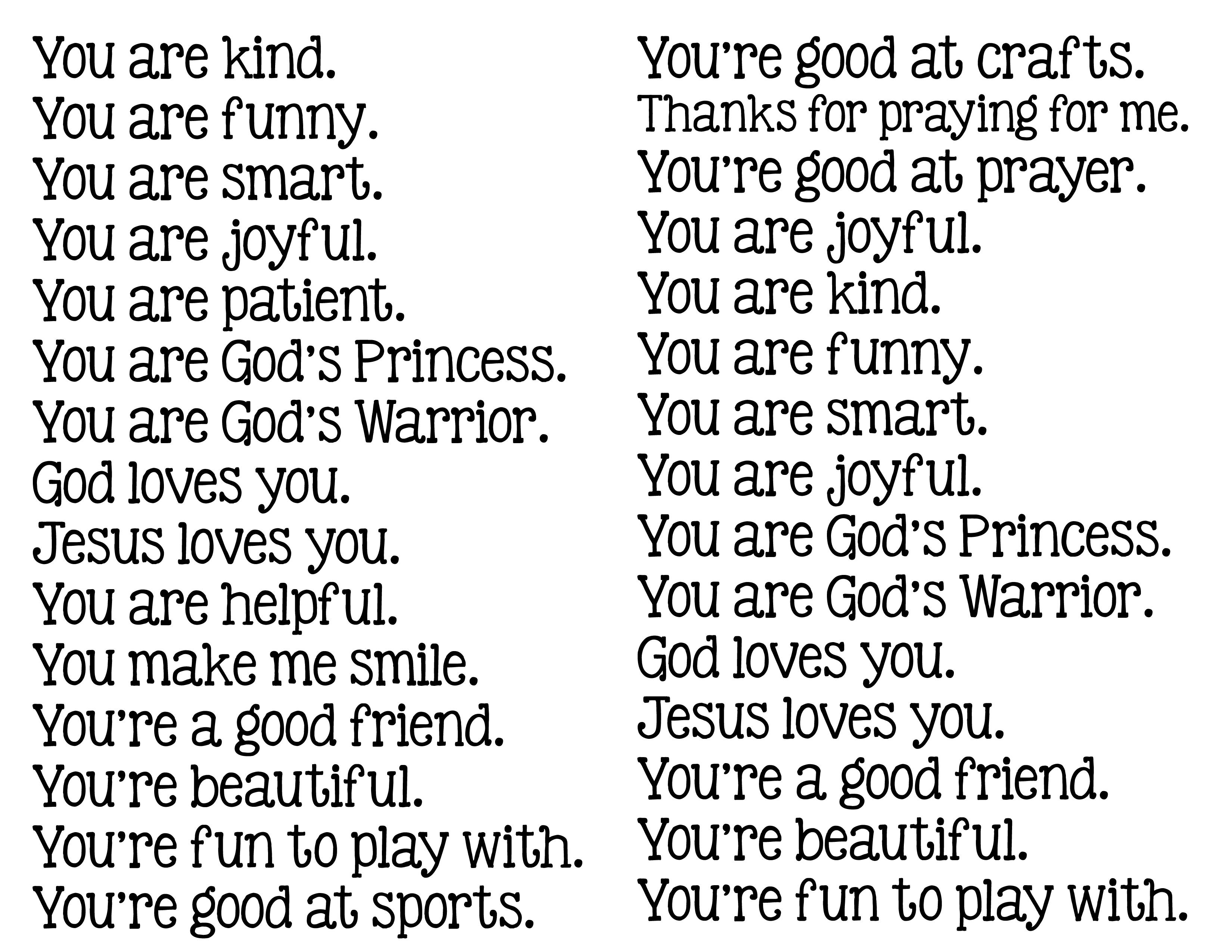 Phrase Encouragement Worksheet