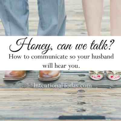 Honey, Can We Talk?