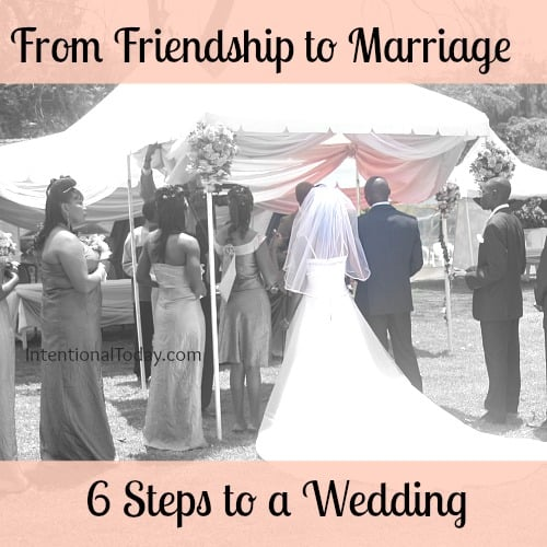 Image: Friendship to Marriage; 6 steps to a wedding