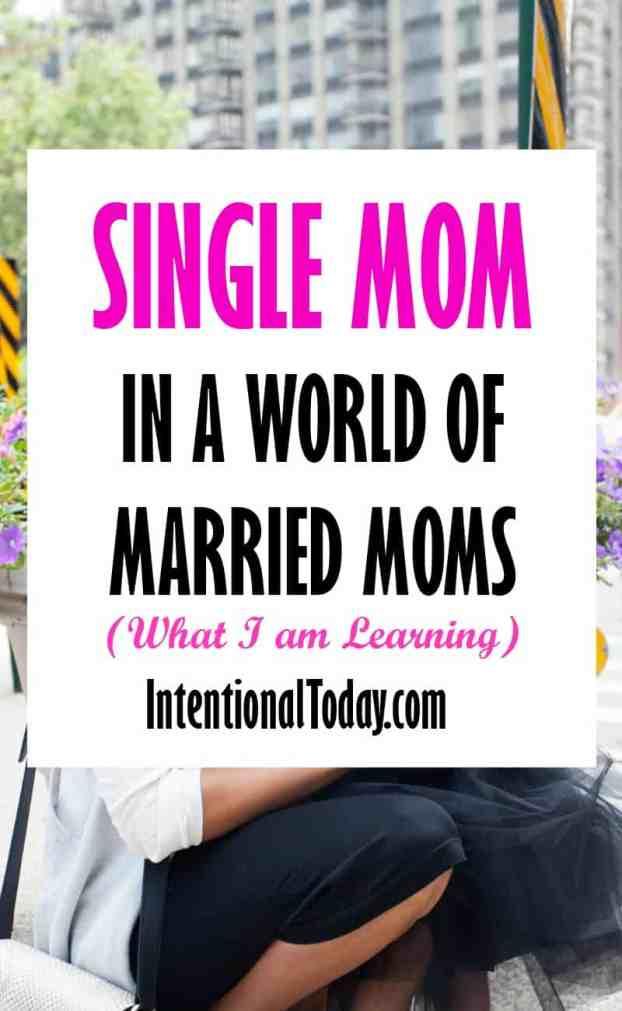 single mom in a world of married women