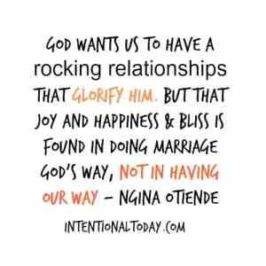 glorify God, not yourself