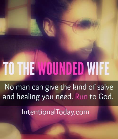 Running to God for healing when you are wounded