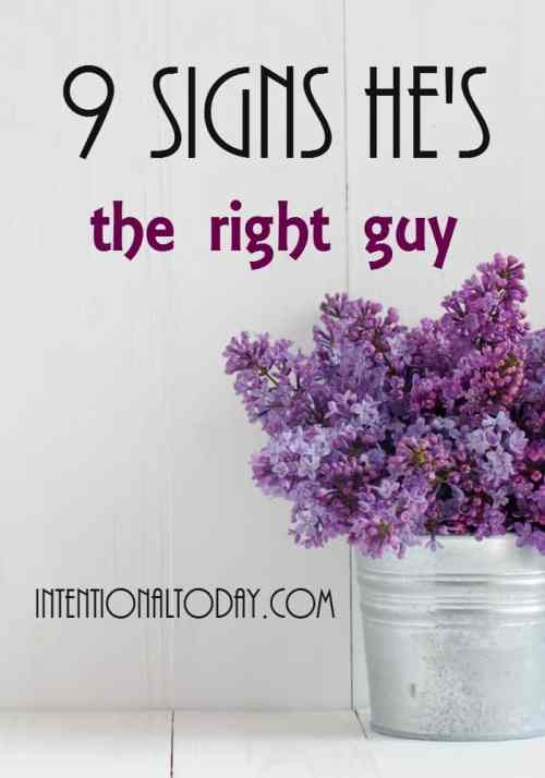 Single and wondering if the guy you are dating is the right one? Here are 9 tips to know the right guy!