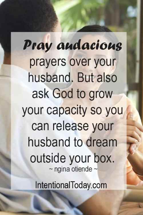 As you pray for your husband, pray for yourself. Here are two ways to know you have taken the right position as a helpmate