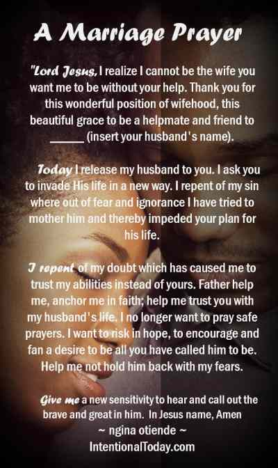 A marriage prayer