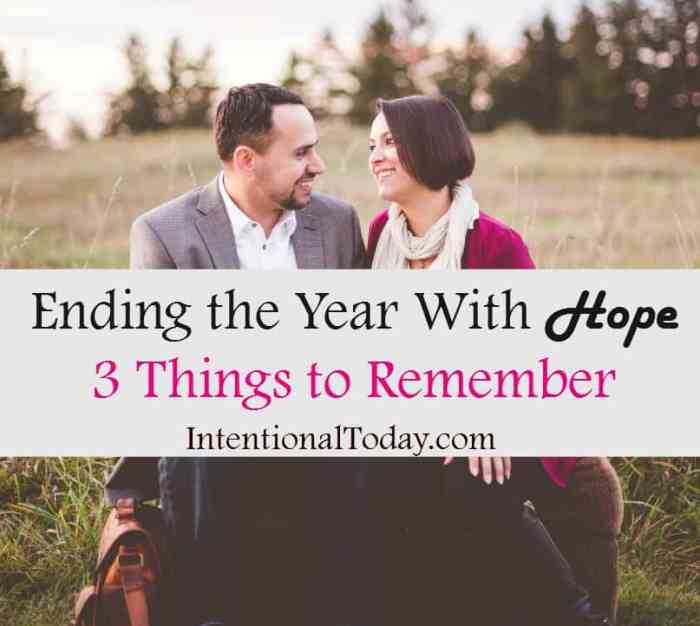 3 things to remember to help you end 2016 with hope