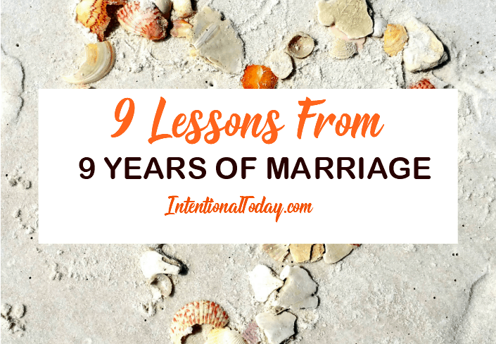 9 lessons from 9 years of marriage