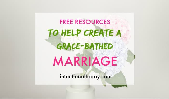Free resources to help create a gracebathed marriage