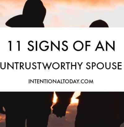 Is your spouse untrustworthy? Here are 11 signs to look out for