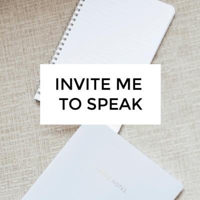 Invite me to speak at your next event