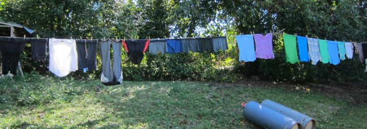 laundry in our backyard