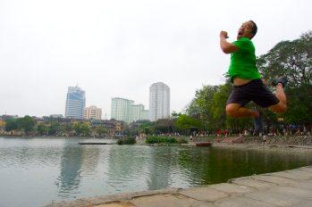 Morning run, Hanoi, Vietnam