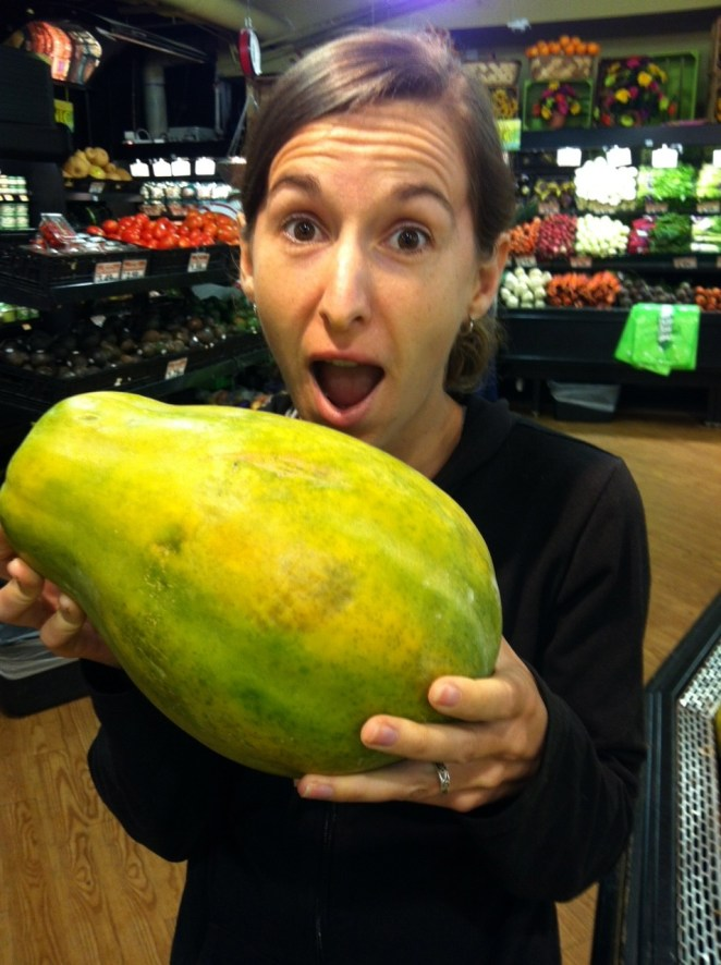 Giant papaya!