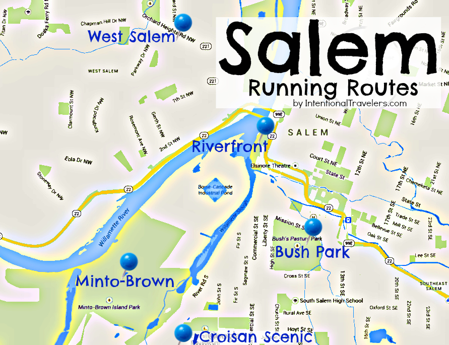 Routes to Walk or Run in Salem, Oregon | Intentional Travelers