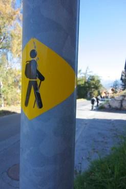 Hiking Path Signs - Nendaz, Switzerland   Intentional Travelers
