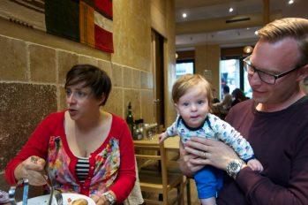 Meeting an expat friend's baby in Paris