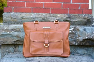 Leather laptop bag for women - work and travel handbag | Intentional Travelers