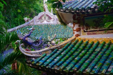 Temple roof at Marble Mountain