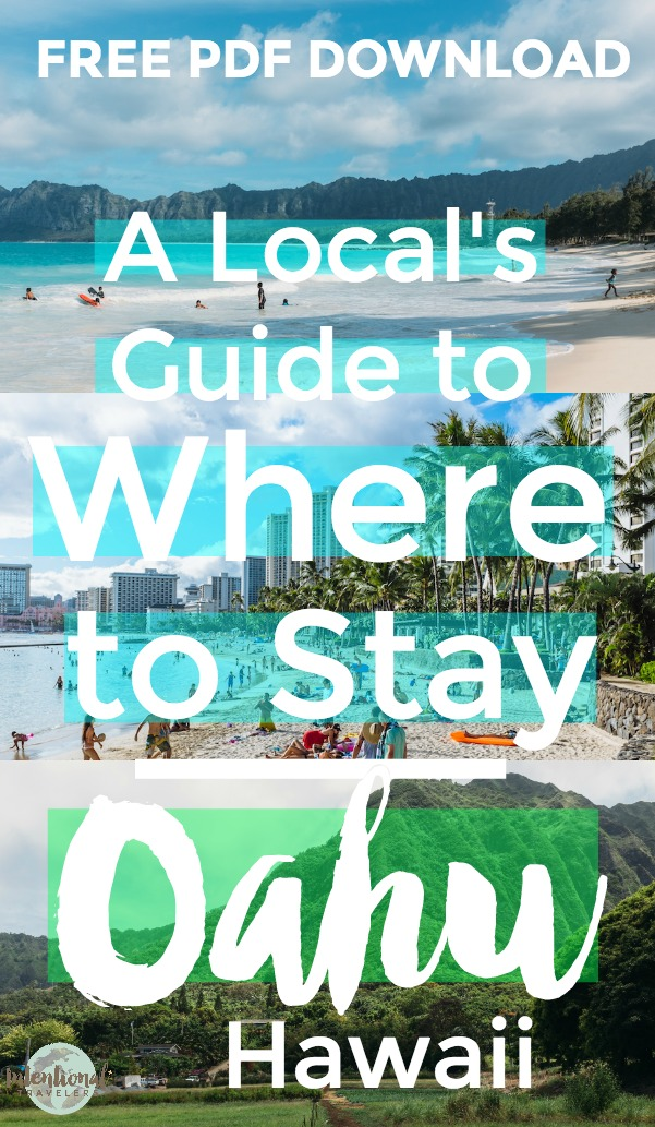 Download a free detailed guide on the different areas around Oahu. Includes - A list of the best places to stay, depending on the goals of your trip, - Pros, cons, vibe, and nearby attractions for each area, - Hotel and Airbnb recommendations, - More details on what to consider when booking your stay