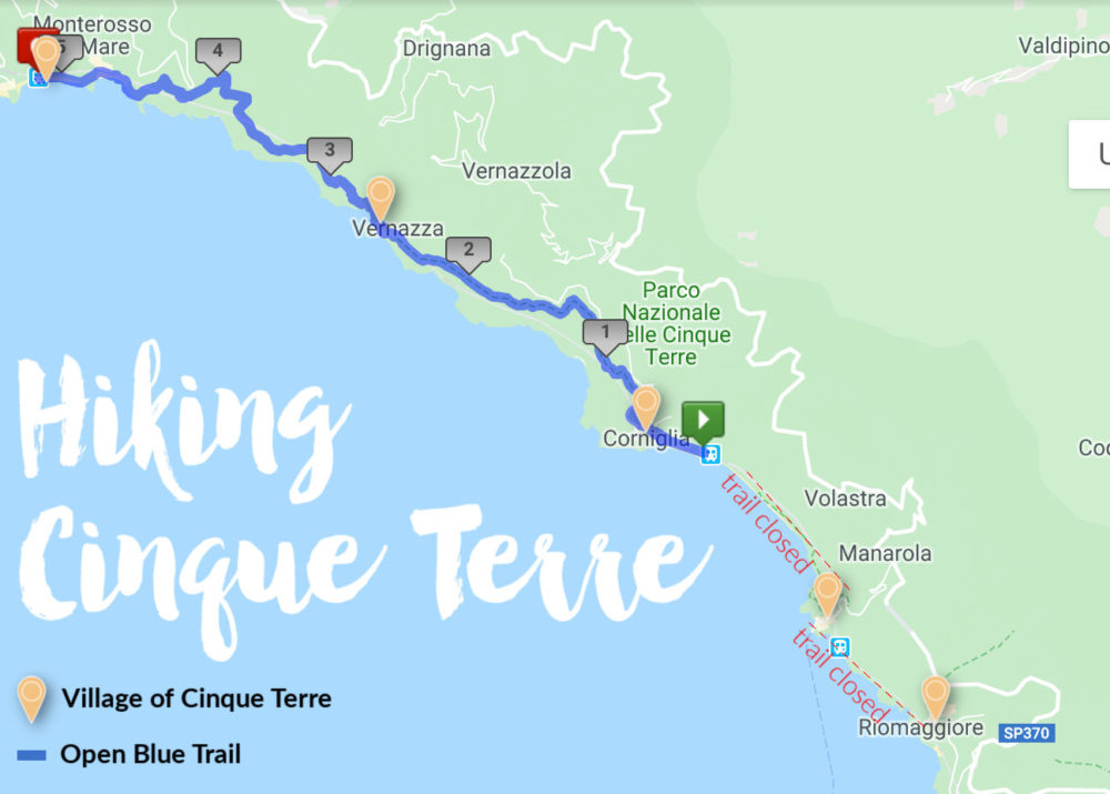 Hiking Cinque Terre: 2020 Trail Tips & Itinerary ... on coastline of cinque terre map, tuscany vineyards map, italy map,