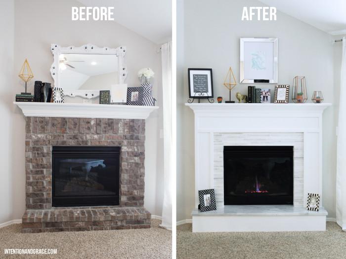 Modern Fireplace Makeover  Intention  Grace