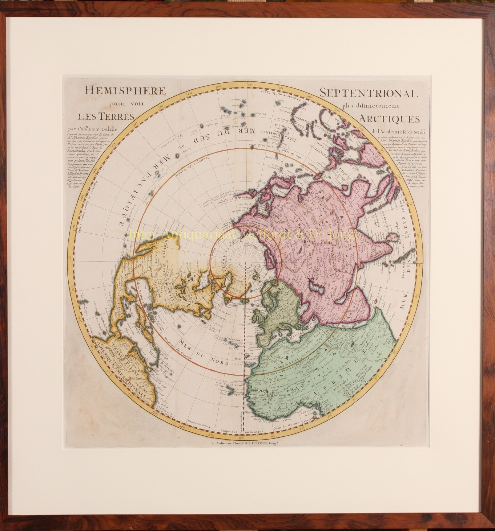 Old Maps Northern Southern Hemisphere 18th Century
