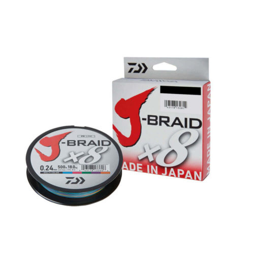 Шнур Daiwa J-Braid X8 Multicolor 0.06мм 9lb 150м