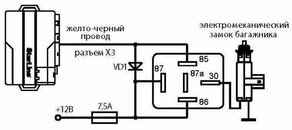 Схема подключения сигнализации с автозапуском