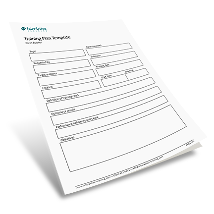 Training Plan Template. FREE Form to Track Training Needs
