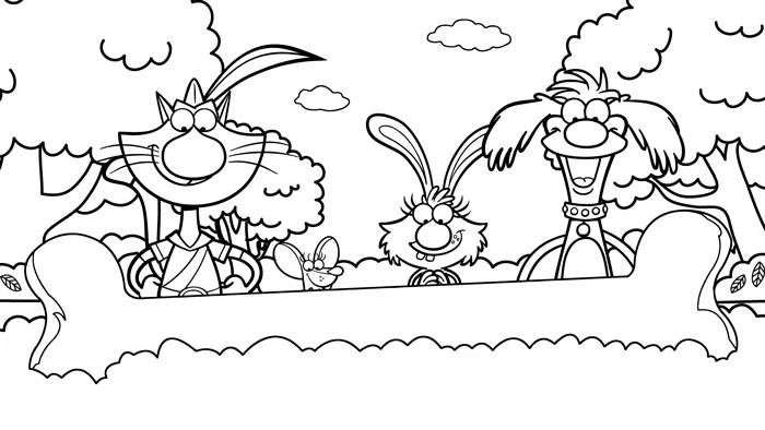 nature cat coloring pages
