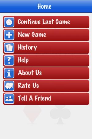Trix Calculator menu screenshot