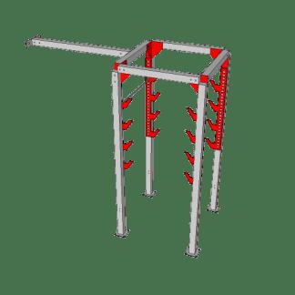 NW-OSL-DBL4-0610@Double_Salmon_ladder_4ft_Gap_with_Katana_Frame@10.667×10.333×4.667