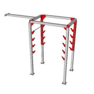NW-OSL-DBL6-0610@Double_Salmon_ladder_with_Katana_Frame@12.667×10.333×4.667