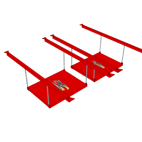Ninja Training Sport Obstacle - The Unstable Bridge
