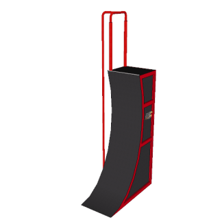 NW-WW-14PF@14ft_Premium_Warped_wall_With_Firmans_Pole@8.500×20.000×6.000