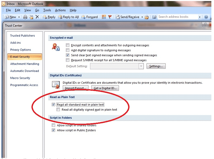Outlook Hangs (stops responding) Opening Email Messages Sent from